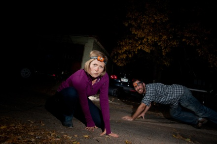 Camera Trap Test Nerds in Headlamps Morgan Heim Ethan Welty